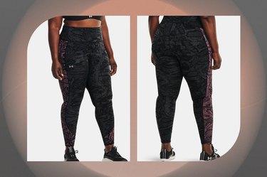 Women's UA RUSH HeatGear No-Slip Waistband Printed Full-Length Leggings