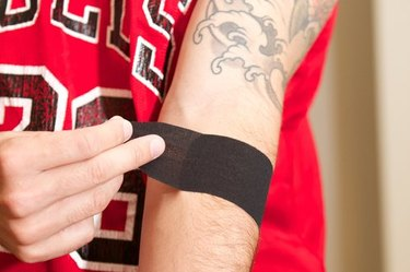how to tape elbow step 4
