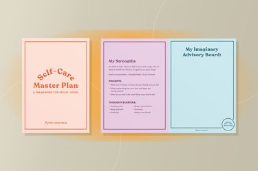 Self-Care Master Plan guided journal for healing