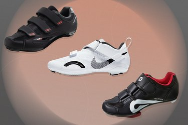 collage of the best spin shoes for indoor cycling
