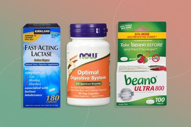 Three types of digestive enzyme supplements