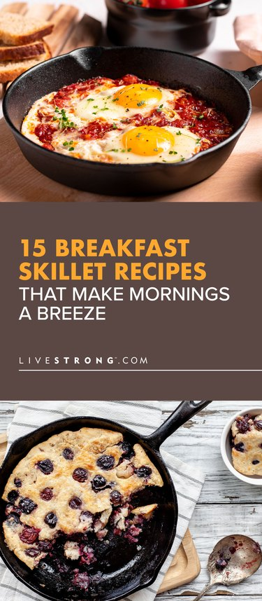 pin showing 15 Breakfast Skillet Recipes That Make Mornings a Breeze