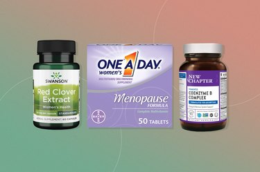 product collage of three supplements and vitamins that increase estrogen