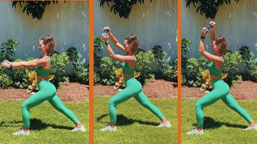 1. Runner's Lunge With Overhead Circle