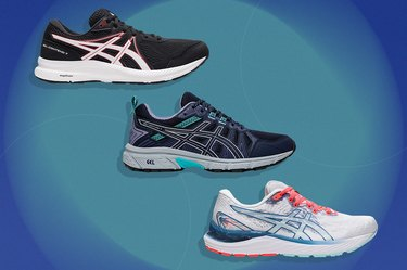 collage of the best Asics shoes for supination