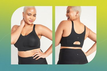 Old Navy High-Support PowerSoft Zip-Front Sports Bra