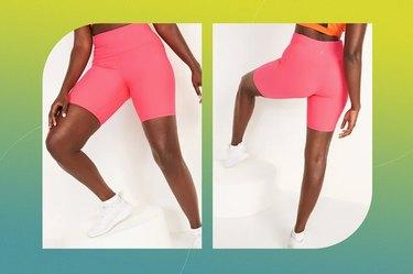 High-Waisted PowerSoft Side-Pocket Biker Shorts
