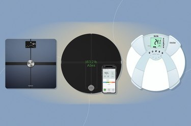 a collage of three of the best body fat scales