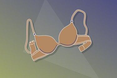 Illustration of an underwire bra