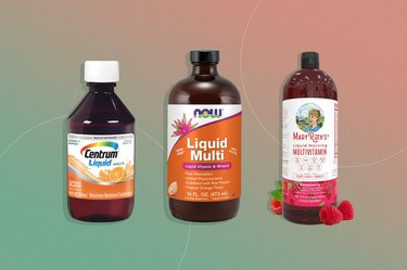 Collage of several types of liquid multivitamins