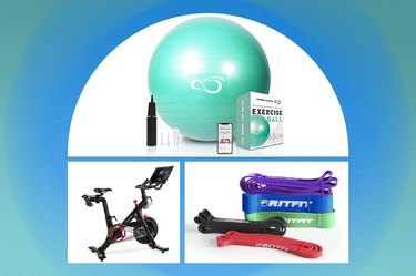 Collage of the best at-home workout equipment of 2021