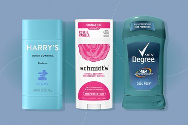 collage of three of the best deodorants