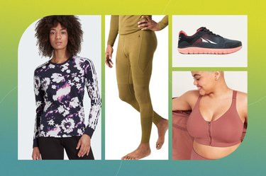 collage of workout clothes on sale for Labor Day 2021
