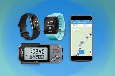 collage of the best pedometer apps and step trackers of 2021