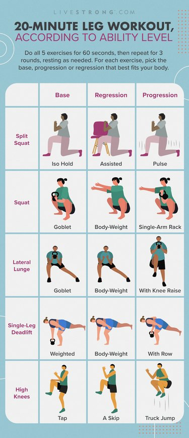 20 minute leg workout for all fitness levels