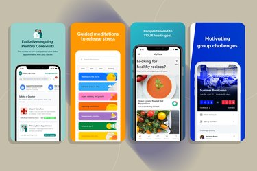 a collage of some of the best health apps
