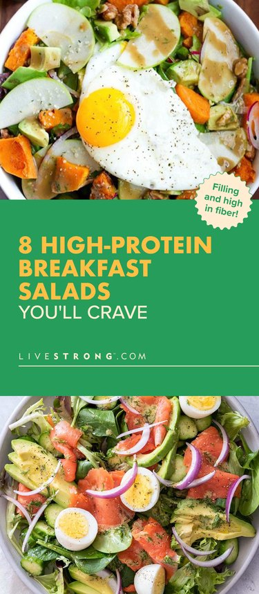 pin showing breakfast salads