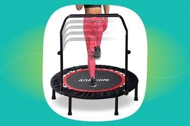 "Kanchimi 40"" Folding Mini Fitness Indoor Exercise Workout Rebounder"