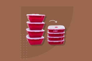 Collapse-it Silicone Food Storage Containers