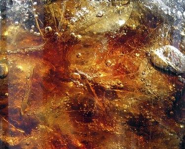Cola, ice & air bubbles