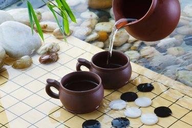 """""""Tea set and weiqi,close-up"""""""