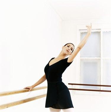 Female Ballet Dancer Practicing in the Dance Studio