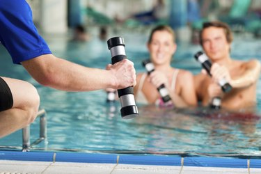 Fitness - sports under water in or spa