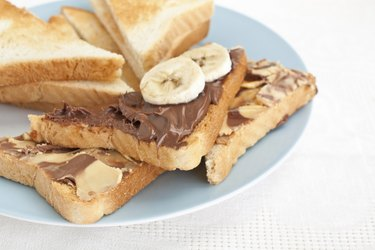 chocolate and peanut buttered toasts
