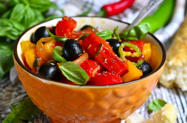 Peperonata - traditional dish of italian cuisine.