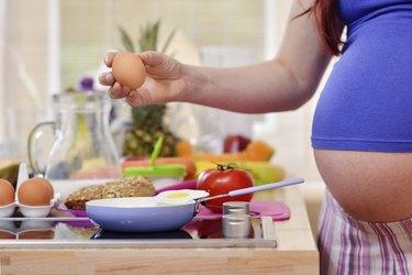 pregnant women in the kitchen