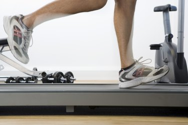 Person using treadmill