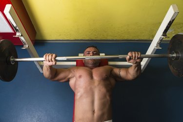 Weightlifter On Benchpress