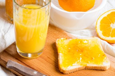 Sandwich with orange jam
