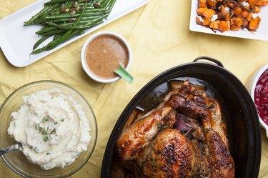 Thanksgiving dinner roast turkey