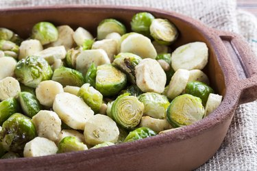Roasted Parsnips and Sprouts