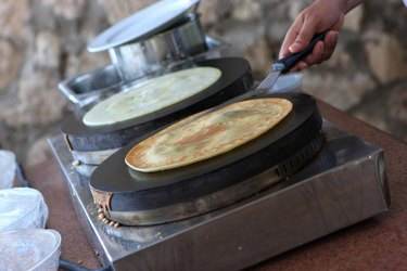 Preparation of pancakes