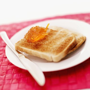 Close-up of marmalade on toast