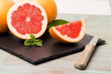 Ripe grapefruit
