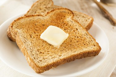 Whole Wheat Buttered Toast