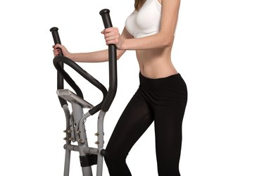 walking on elliptical trainer