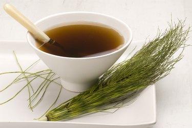 Herbal tea. Horsetail infusion.