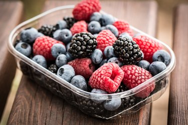 Fresh summer berries healthy food