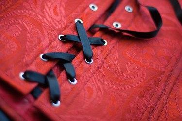 black lace-up satin ribbon