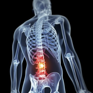 man having acute pain in the back