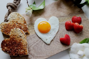 Heart Valentine's day breakfast