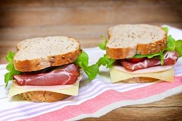Sandwiches with prosciutto