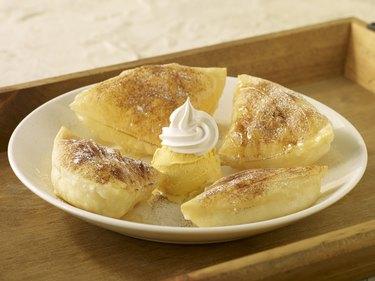 Sopapillas with Vanilla Ice Cream