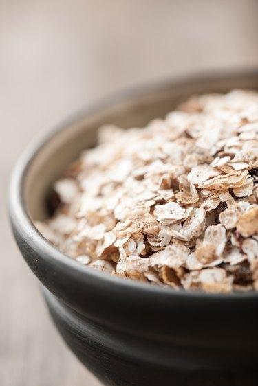 Organic muesli in a bowl