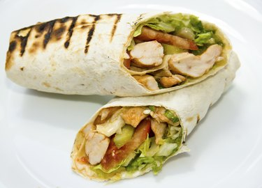Döner kebap - Chicken Salad Sandwich Wrap