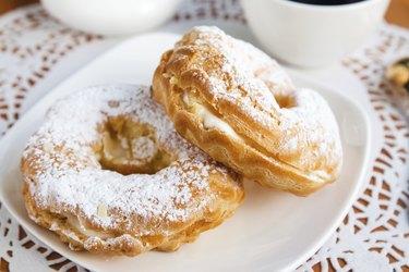 Two cream puffs